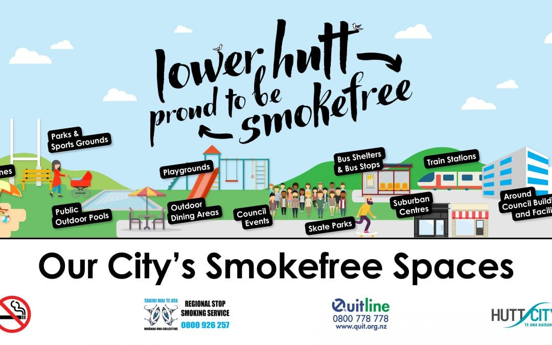 Public spaces support more people to be smokefree in Lower Hutt